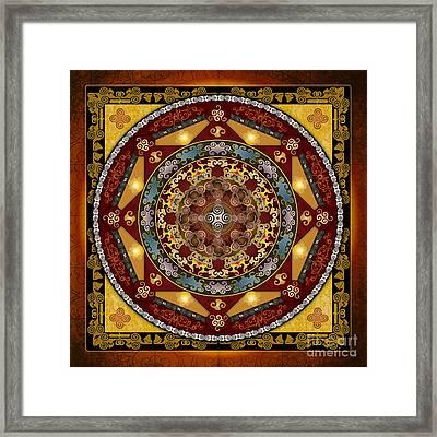 Mandala Oriental Bliss Framed Print by Bedros Awak