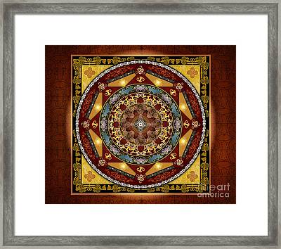 Mandala Oriental Bliss Sp Framed Print by Bedros Awak