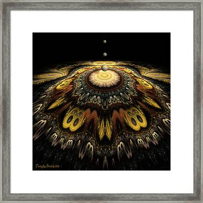 Mandala The Nun Did Not Have Time To Finish. 2013 80/80 Cm.  Framed Print by Tautvydas Davainis
