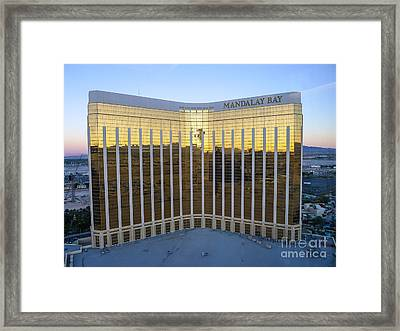 Mandalay Bay Resort And Casino Framed Print by Edward Fielding