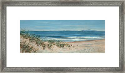 Mandalay Beach Framed Print by Tina Obrien