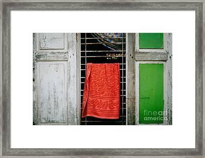 Mandalay Window Scene Framed Print