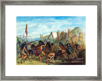 Mandan: Bison Dance, 1844 Framed Print by Granger