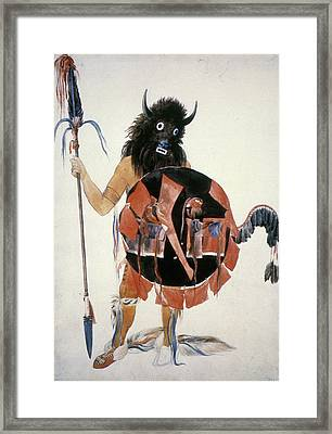 Mandan Buffalo Society Framed Print by Granger