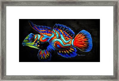 Mandarin Fish Framed Print by Phyllis Beiser