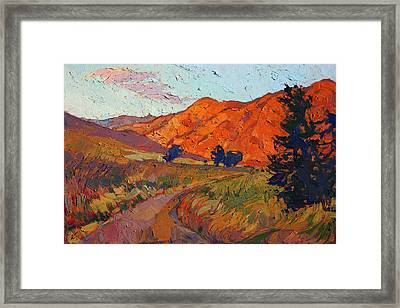 Framed Print featuring the painting Mandarin Light by Erin Hanson