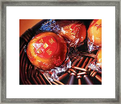 Mandarins In Cello Packets Framed Print by Dianna Ponting
