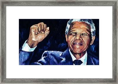 Mandela - Amandla Framed Print