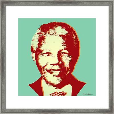 Mandela Framed Print by Mark Ashkenazi
