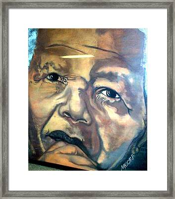 Mandela Framed Print by Michael Mahue Moore