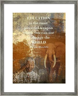 Mandela Framed Print by Sharon Lisa Clarke