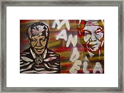 Mandela Framed Print by Tony B Conscious