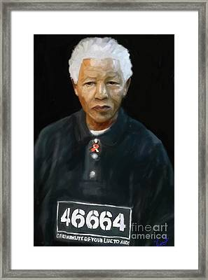 Framed Print featuring the digital art Mandela by Vannetta Ferguson