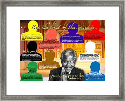 Mandela's Rainbow With Scripture Framed Print by Terry Wallace