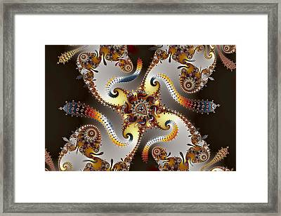 Mandelbrot And Polychrome Slugs Framed Print by Mark Eggleston