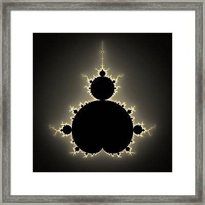 Mandelbrot Set Square Format Art Framed Print