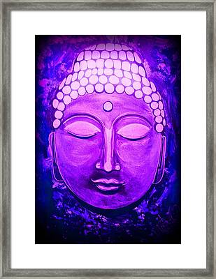 Framed Print featuring the painting Mandi's Buddha by Michelle Dallocchio