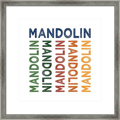 Mandolin Cute Colorful Framed Print