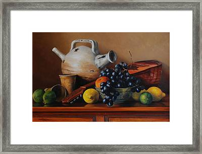 Mandolin Tune Framed Print by Dan Petrov