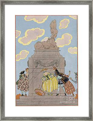 Mandoline Framed Print by Georges Barbier