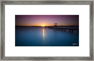 Mandurah Glow Framed Print