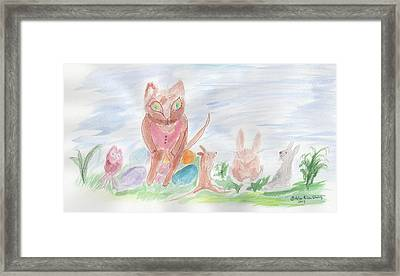 Framed Print featuring the painting Mandy Pandy by Helen Holden-Gladsky