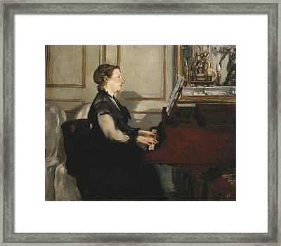 Manet, �douard 1832-1883. Madame Manet Framed Print