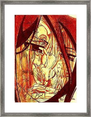 Manga Despair Framed Print by Leon Bale