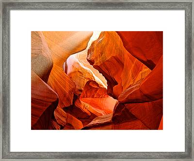 Manger Scene In Lower Antelope Canyon-az Framed Print by Ruth Hager
