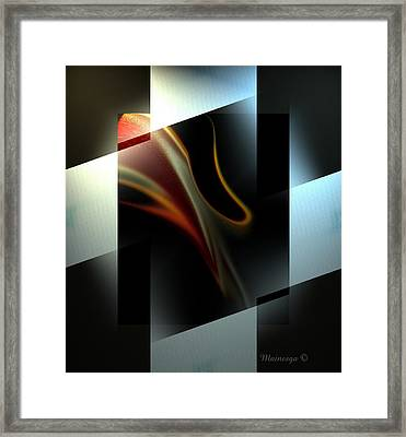 Mango And Cream Framed Print