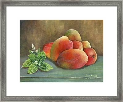 Mango And Mint Framed Print