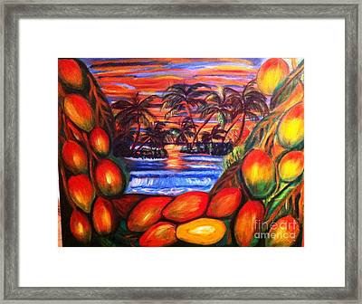 Mango By Sunset Framed Print