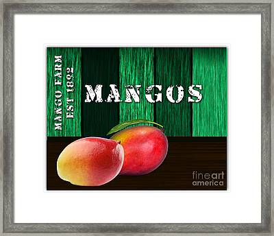 Mango Farm Sign Framed Print by Marvin Blaine