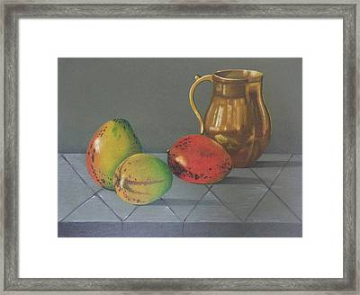 Mango Framed Print by Lina Velez
