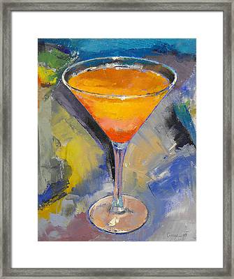 Mango Martini Framed Print by Michael Creese