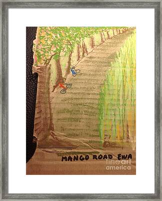 Mango Road Ewa Plantation Framed Print by Willard Hashimoto