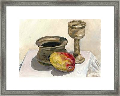 Mango Study Framed Print by Michael Marcotte