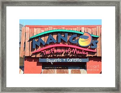 Mangos Restaurant At San Francisco California 5d26091 Framed Print by Wingsdomain Art and Photography