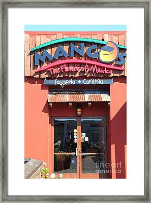 Mangos Restaurant At San Francisco California 5d26092 Framed Print by Wingsdomain Art and Photography