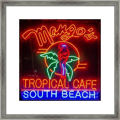 Mango's South Beach Miami - Square Framed Print by Ian Monk