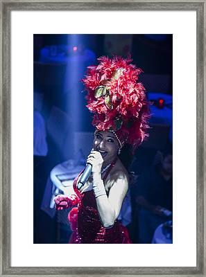 Mango's South Beach Singer Framed Print by John McGraw
