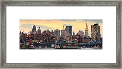 Manhatan Ny  Framed Print
