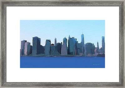 Manhattan 2014 Framed Print