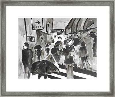 Manhattan Abstract IIi Framed Print by Janel Bragg