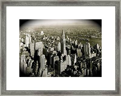 Manhattan And Chrysler Building II Framed Print