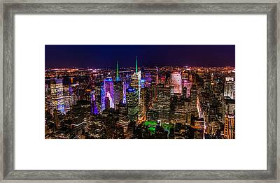 Manhattan At Night 2 Framed Print