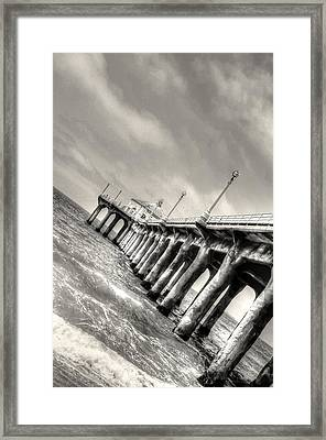 Manhattan Beach Pier - Mike Hope Framed Print