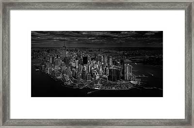 Manhattan - Bird's Eye View Framed Print