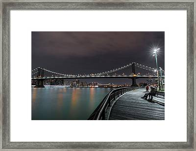 Manhattan Bridge - New York - Usa 2 Framed Print by Larry Marshall