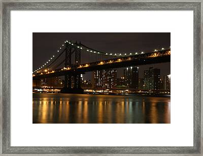 Manhattan Bridge 3019-48 Framed Print by Deidre Elzer-Lento